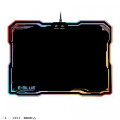 E-Blue Mouse Pad with RGB Lighting/36.50 x 26.50 x 0.50 cm/1 Year Warranty/10 lighting models